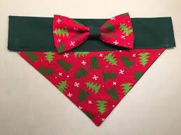 <b>Dog</b> Bandana - <b>Christmas</b> Tree Print with <b>Bow</b> | <b>Products</b> | Pinterest ...