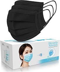 50 PCS Black Disposable Face Masks 3-Ply Filter ... - Amazon.com