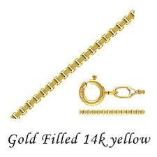 Tesoro Rakuten Ichiba Shop: 14 K Yellow <b>Gold</b> filled box chain ...