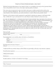 parental consent medical treatment form permission letter for medical treatment