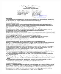 event planner contract template event planning contract templates