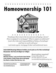 news interfaith housing alliance homeownership 101 workshop image