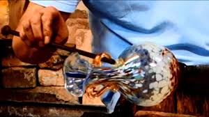 <b>Murano Glass</b> Blowing of a <b>Flower</b> Vase with 2 handles - YouTube