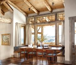 lodge rustic dining room outstanding decor ideas