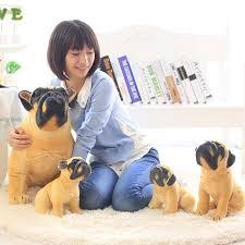 <b>Lovely Simulation</b> Squat Pug <b>Dog Plush Toy Cute Stuffed Animal</b> ...