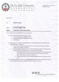 de la salle university dasmariñas memo 099 clarification on the planning template