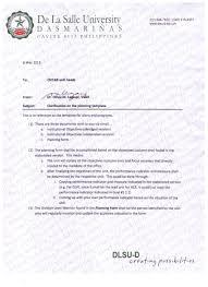 de la salle university dasmari ntilde as memo 099 clarification on the planning template
