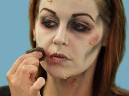 stipple sponge for zombie makeup del