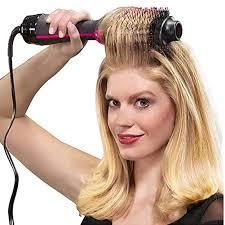 1000W <b>Professional</b> Hair Dryer Brush 2 In 1 <b>Hair Straightener Curler</b> ...
