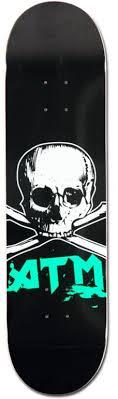 """ATM <b>Skull</b> 8.0"""" <b>Skateboard</b> Deck   Zumiez"""