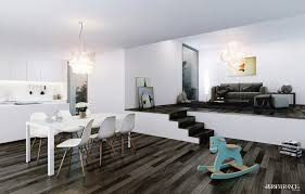modern style dining room
