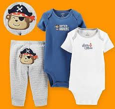 Carter's baby boy Captain Adorable Cute <b>Monkey</b> Pirate Bodysuits ...