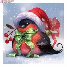 5D Diy <b>Full Round</b> Stone Bead <b>Drill</b> Diamond Painting Christmas ...
