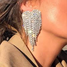 <b>2019</b> Spring <b>New Exaggerated Big</b> Earrings Women Gold Face ...