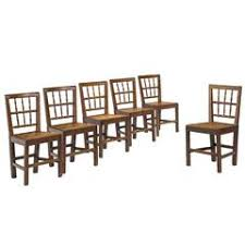 hepplewhite shield dining chairs set: set of six george iii period oak chairs