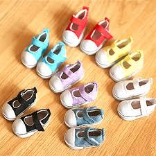 <b>1 Pair Hot</b> Sale <b>5cm</b> Canvas Shoes For BJD Doll Toy Mini Doll ...