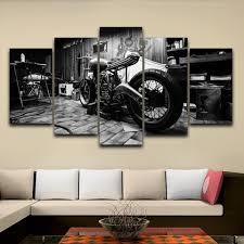 Living Room <b>HD Printed</b> Modular Canvas Posters <b>5 Panels</b> Vintage ...