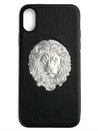 <b>Чехол</b> для IPhone X «Лев», с накладкой из <b>натуральной кожи</b> ...