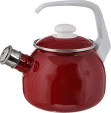 """<b>Чайник эмалированный</b> Elros """"Danko"""", <b>со свистком</b>, 2,5 л ..."""