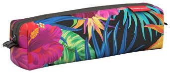 Купить ErichKrause <b>Пенал квадро mini</b> Flowers (44912) черный по ...