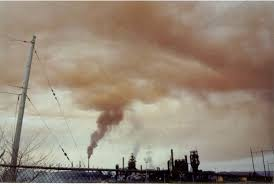 A <b>picture</b> of the orange mushroom cloud in Sydney (provided by one ...