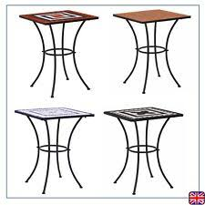 Glass Round <b>Mosaic</b> Design <b>Side Table</b> Garden Patio Flower <b>Plant</b> ...
