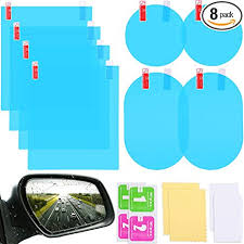 8 Pieces Car Rearview Mirror Film Anti Fog Glare ... - Amazon.com