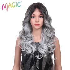<b>Lace Front High Temperature</b> Loose Wave Synthetic Wigs For Black ...
