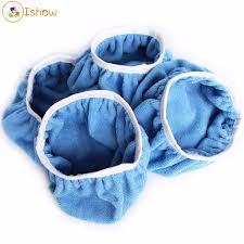 <b>5pcs Microfiber</b> Plush Car Polishing Waxing Polisher Bonnet Buffing ...