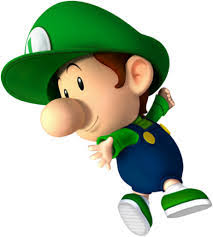 Not to be outdone by his older brother, this little guy musters up his courage to join in the Mario Kart championships. Please welcome, Baby Luigi! - Baby_luigi