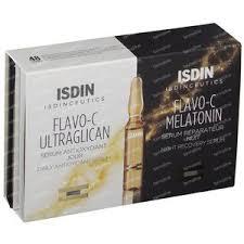 <b>ISDIN Isdinceutics</b> DUO <b>Flavo</b>-<b>C Melatonin</b> + Ultraglican 10+10x2 ml ...