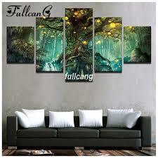 <b>FULLCANG</b> Full Square <b>Diamond Embroidery</b> Enchanted Tree ...