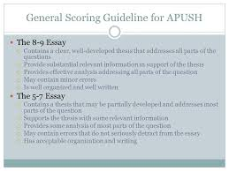 ap us history frq  what is an frq frq stands for free  general scoring guideline for apush the   essay  contains a clear well