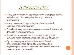 psychodynamic approach strengths and weaknesses  3 weaknesses