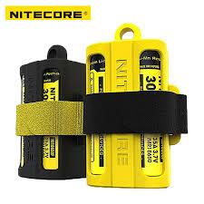 <b>Nitecore NBM40 Silicon case</b> holder Storage box Portable Battery ...