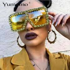 Fashion Oversized <b>Sunglasses Women</b> Fashion 2019 New Big ...