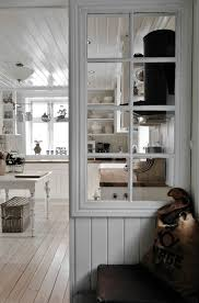 white kitchen windowed partition wall:  potterjpg