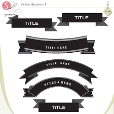 Vector Banners 1 [sm-vectorbanners1] - $4.49 : SweetMade, Digital ...