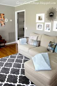 Rugs In Living Rooms Family Room Gray Trellis Rug Sectional Blue Accents Family