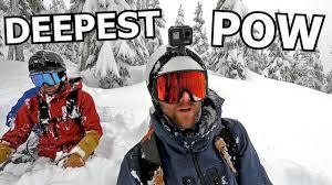 <b>Deepest Powder</b> Snowboarding of Life - YouTube