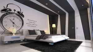 awesome black and white bedroom for guys with artistic walls and ceiling motif and luxury bed amazing bedroom awesome black