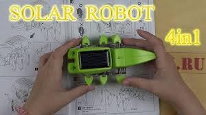 T4 Solar Robot Обзор конструктора 4 в 1 на солнечной ...