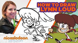 Nickelodeon Animation - How to Draw <b>Lynn Loud</b> Draw Along w ...