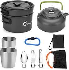 Odoland Camping Crockery <b>Set</b>, Camping <b>Cookware</b> Kit, <b>Outdoor</b> ...