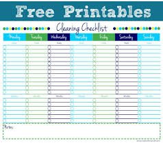printable personal house cleaning checklist template for printable personal house cleaning checklist template for excel