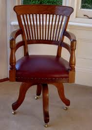 antique arts and crafts office chair antique leather office chair