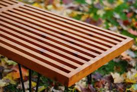 how to make a diy george nelson inspired outdoor slat bench man made diy crafts for men keywords true value diy mid century bench cedar bench plans