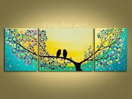 tree wall decor art youtube: tree canvas wall art kjpwg  piece abstract modern canvas wall art decorative tree artwork yellow picture oil painting on canvas