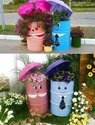 Resultado de imagem para jardins diferentes com reciclagem