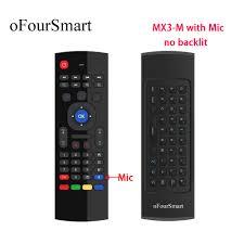 MX3 <b>M</b> Air Mouse MX3 Remote Control with Voice <b>2.4G RF Wireless</b> ...